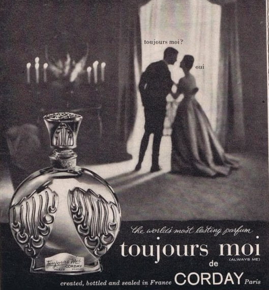 toujours moi 1961 advert vintage perfume